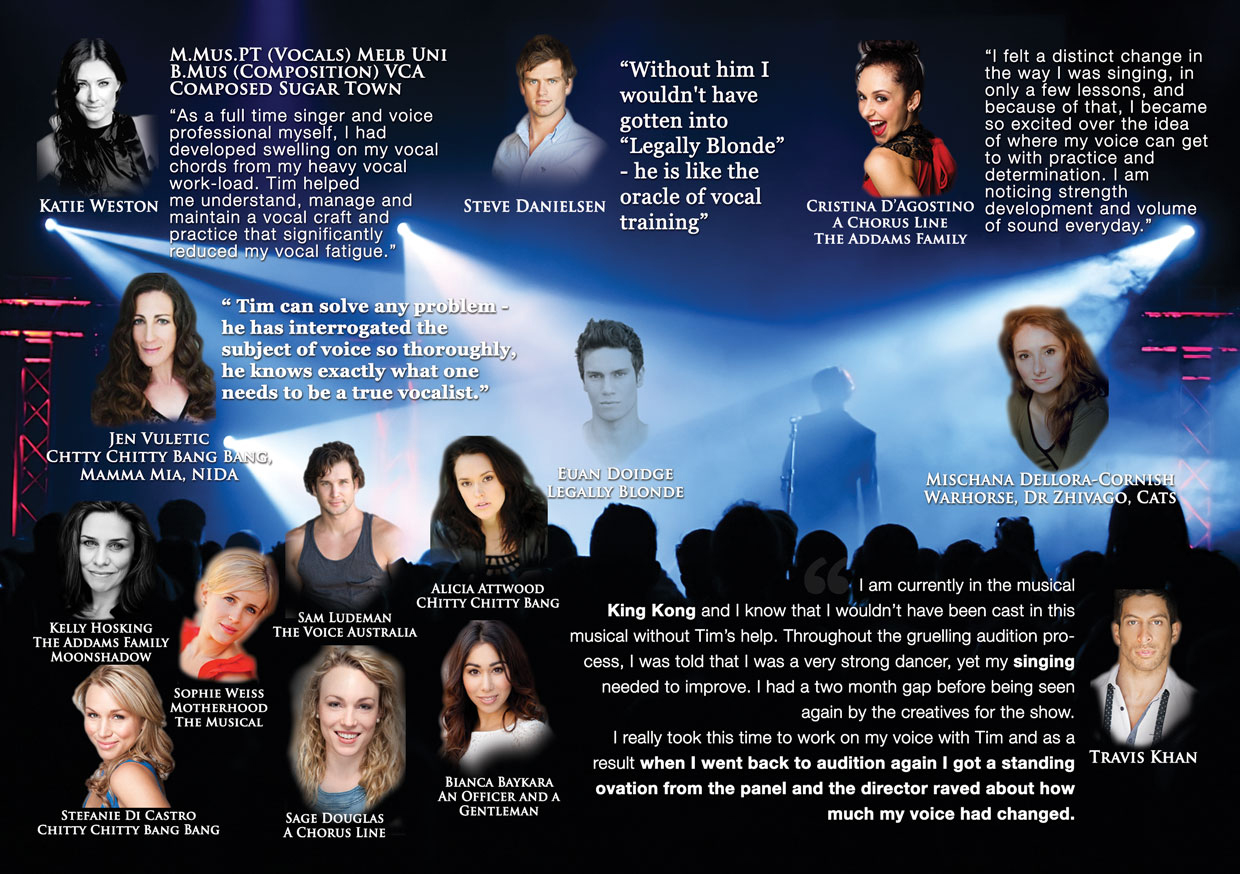 Testimonials from Vocal Alchemy students